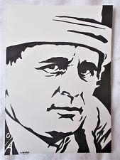 A4 Bolígrafo Marcador De Arte Dibujo Sylvester McCoy el Séptimo Doctor Who Cartel