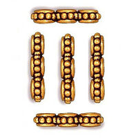 RHINESTONE CRYSTAL SQUARE JEWELRY SPACER BEAD 4MM 50 BEADS GOLD COLOR RC11