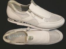 Gabor !! Damen Leder Sneaker Gr. 42 // UK 8 // weiß, silber