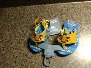 Disney Store The Lion Guard Kion Boys Kids Flip Flops Toddler Size US 5/6 New