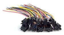 12v DC SPDT 30/40A 5 Wire 16-14 GA Gauge Relay Socket Harness 20 Pack ERS-124