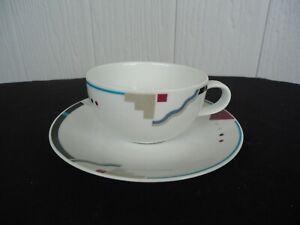 art deco design studio nova attitudes tea cup & saucer y0105