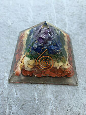 Orgonit Pyramide - 7xChakrenfarbe Energiespirale programmiert Agnihotra 562