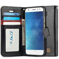 J&D Motorola Moto Z2 Force Droid [RFID Blocking Wallet] Flip Cover Wallet Case