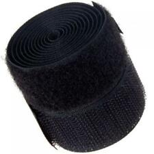 Set of 1 Inch x 1 Yard Sew-On Hook and Loop Fasteners Tape for Craft DIY Black