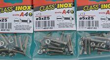 CLASS'INOX,,PRO,,91 Boulons TF ,5 x 25 mm + Ecrous,INOX A4 Marine,Tête Fraisée