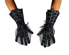 Guantes de dedos Telaraña y Araña Bruja ,Halloween mujer