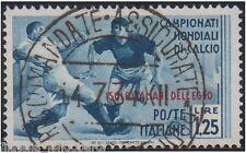 Isole italiane EGEO 1934 mondiali di calcio Lire 1,25 usato originale S.79 -F417