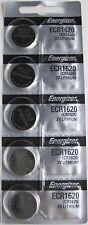 Energizer ECR1620 (CR1620) 3V Lithium Coin Batteries ( 1 pack of 5)