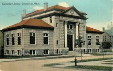 Coshocton OH~Neighbor~Fire Hydrant~Carnegie Library~Big Columns~1912 Postcard