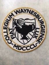 """Waynesburg University  patch 3"""" diameter embroidered patch"""