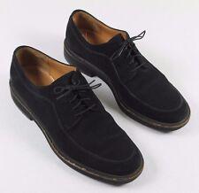 Salvatore Ferragamo Suede Black Oxford Shoes Men's 10 D