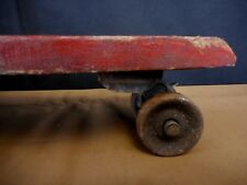 Vintage Skate Board Metal Wheels Antique Toy 1950s 60s homemade wood Old School
