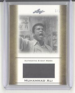 Muhammad Ali 1/1 event worn relic card 2010 Leaf EW-7 gold NM Cassius Clay boxer