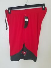 New Men's Majestic Red Tampa Bay Buccaneers Cool Base -  Shorts NWT