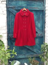 womens coat size 16 red wool princess style fitted winter town & country classic