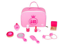 Wooden Make-up Set | 11 Pieces | Pretend Play | Cosmetic Beauty Girls | Pink