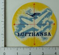 1940's-50's Lufthansa Airline Luggage Label Vintage Poster Stamp E8