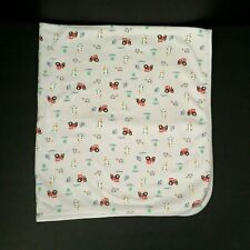 Carters Child of Mine Baby Girl Pink Cotton Blanket Ribbit Woof Tractor Cow Farm