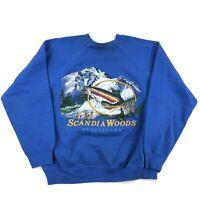 Vintage 90s Crewneck Sweatshirt Adult Large Rainbow Trout Retro Graphic Fishing