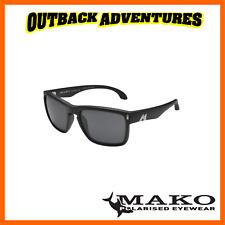 MAKO SUNGLASSES GT MATT BLACK FRAME GREY GLASS LENS M01-G0HR