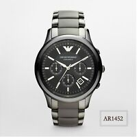 Emporio Armani Ceramica Stainless Steel Chronograph Black Men's Watch AR1452