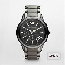 Emporio Armani Ceramica Stainless Steel Chronograph Black Men's Watch AR1452