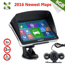 XGODY 8GB 7'' Car Truck GPS Navigation BT AV-IN FM Wired Reversing View Camera