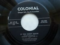 GEORGE HAMILTON IV 45 IF YOU DON'T KNOW USA COLONIAL KILLER 1956 ROCKABILLY V++
