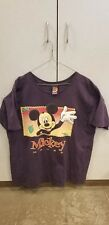 Mickey Mouse Stamp Vintage Apple Box Standing Graphic Design T Shirt Size XL