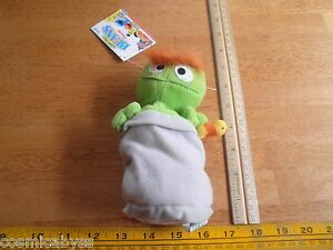 "Sesame Street Beans plush Oscar Tyco with original tags 6.5"" Muppets 1995"