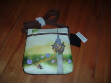 LOUNGEFLY DISNEY TANGLED TOWER SCENE CROSSBODY BAG~ WITH TAGS~ NEW~ STRAP~