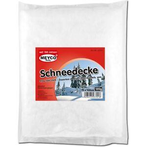 SCHNEEDECKE AUS VLIES 100 X 75 cm DEKORATION WEIHNACHTEN SCHNEE-DECKE WINTER