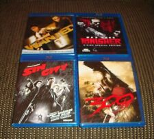 4 Mature Comic Book Movies on Blu Ray - Sin City, 300, Wanted, Punisher War Zone