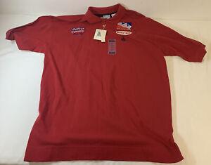 vintage pit crew shirt~ AJ FOYT CONSECO RACING ~ size XL Bugle Boy, IRL ~ UNWORN