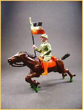BF Cavalier Allemand a l'étendard WWI, plomb creux (antique toys)