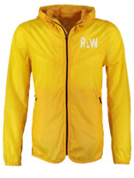 G Star Raw Packable Yellow Long Sleeve Hooded Jacket Mens Small  *Ref37