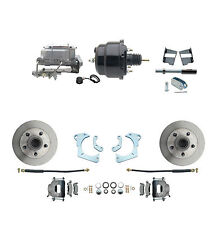 "1965-68 Chevy Impala Standard Disc Brake Kit 8"" Dual Powder Coated Black Booster"