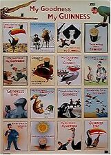 GUINNESS BEER ~ ADS COLLAGE 24x36 POSTER My Goodness NEW/ROLLED!
