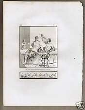 Roman Meal Drinking Flask- Piroli 1804 Antique Print