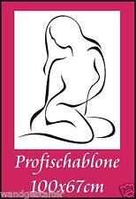 Schablone, Wandschablone, Malerschablone, Wandschablonen, Modernart - Frauenakt