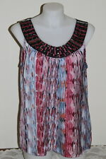 Womens size 18 cute beaded blouse made by SUZANNE GRAE