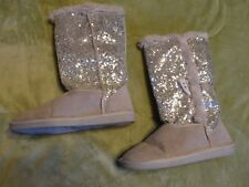 Justice silver glitter BOOTS WOMENS SIZE 7