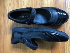 Geox Respira 38 Women's Black Leather Mary Janes Shoes