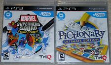 PS3 Game Lot - MARVEl Super Hero Squad (New) Pictionary (New) uDraw Required