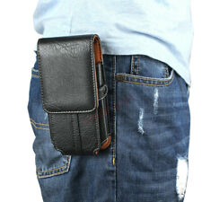 Mens Belt Loop Holster Waist Bag Leather Wallet Card Slot Phone Pouch Case Cover