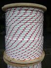 "NovaTech XLE Halyard Sheet Line, Dacron Sailboat Rope 5/16"" x 200' White/Red"