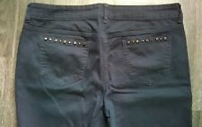 City Streets Size 17 Black Studded Straight/Slim Fit Skinny Leg Stretch Jeans