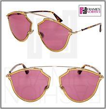 53de3acf78d Christian Dior so Real Rise 001 U1 Sunglasses Gold Yellow Frame Pink Lenses  58mm
