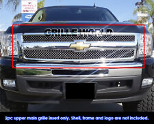 2007-2012 Chevy Silverado 1500 Stainless Steel Chrome X Mesh Grille Grill Insert